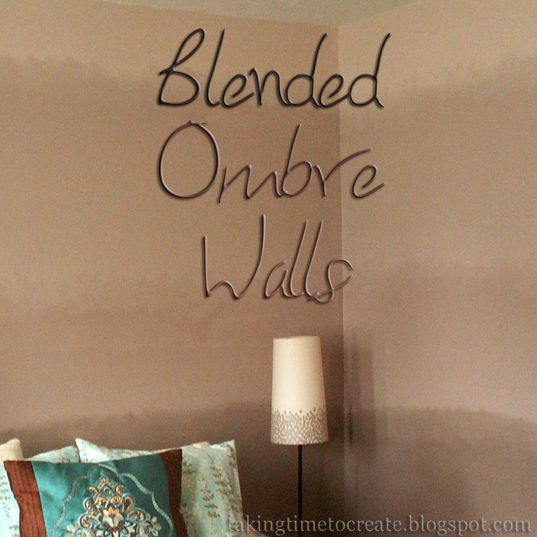 Taking Time To Create Blended Ombre Walls - Ombre wall painting technique