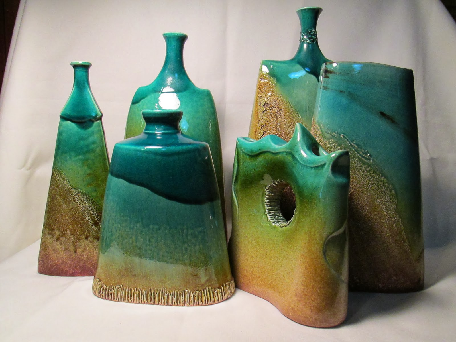 Ceramica azucena acevedo piezas de alfareria esmaltadas for Ceramicas para piezas