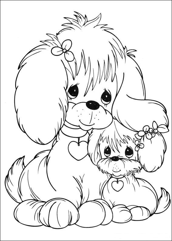 Puppies precious moments coloring child coloring for Coloring pages precious moments print