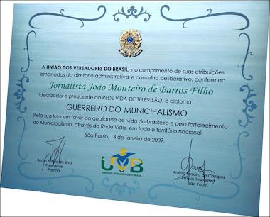 RÉPLICAS E DIPLOMAS, CERTIFICADOS EM AÇO INOX ESCOVADO UNIÃO DE VEREADORES SÃO PAULO-SP