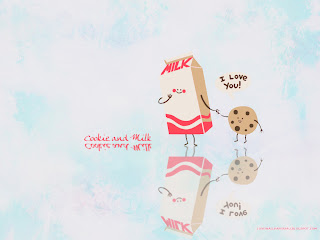 Cookie and Milk: I Love You! Love Wallpaper