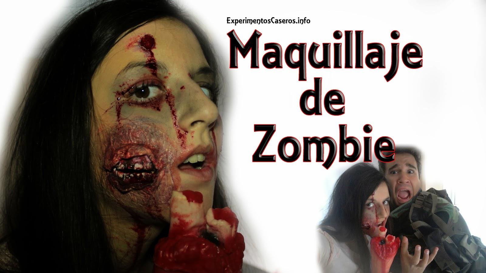 Maquillaje de caracterizaci n para convertirse en zombie - Como maquillarse de zombie ...