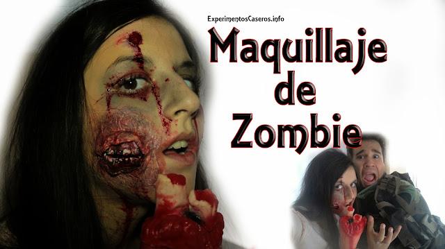 Maquillaje de caracterización para convertirse en zombie, maquillaje fx, maquillaje de zombie, experimentos caseros