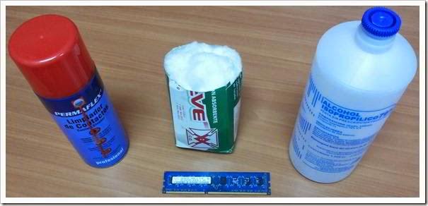 Limpiar memoria ram con alcohol isoprop lico y limpiador - Limpiar con alcohol ...