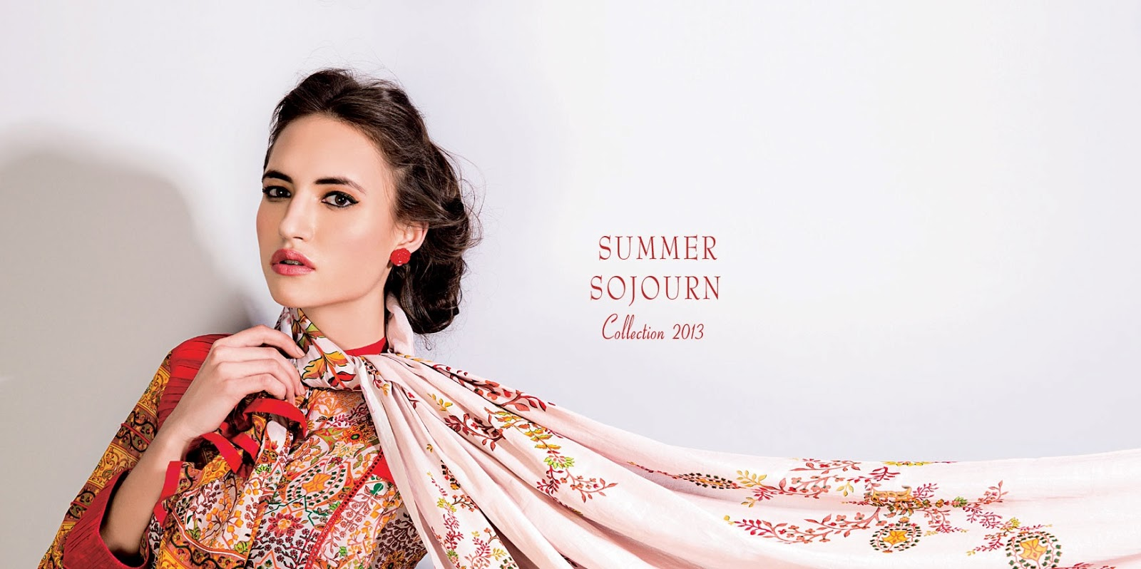 Five Star Summer Sojourn Lawn Magazine 2013 | Sojourn Embroidered Lawn