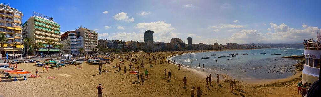 Foto panor mica de la playa de las canteras tomada el - Fotografia las palmas ...