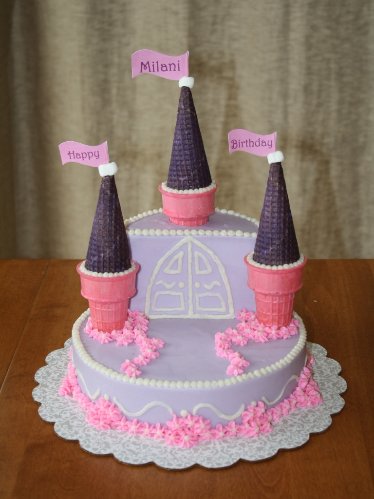 Easy Castle Cakes for Girls http://partycakesbyamy.blogspot.com/2012/01/pink-and-purple-castle-cake.html