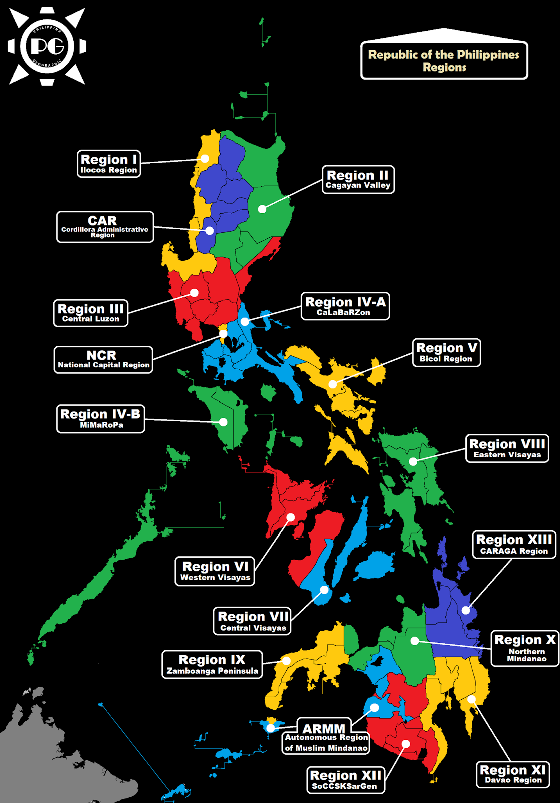 Philippine Geographic: Regions of the Philippines
