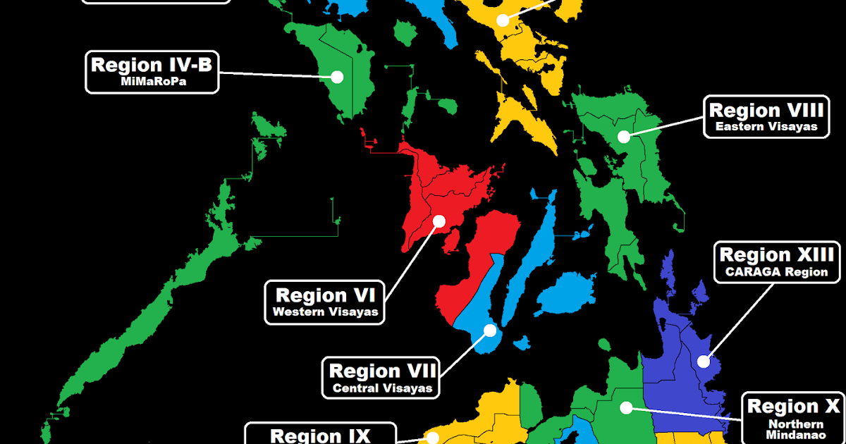 Philippine Geographic Regions Of The Philippines