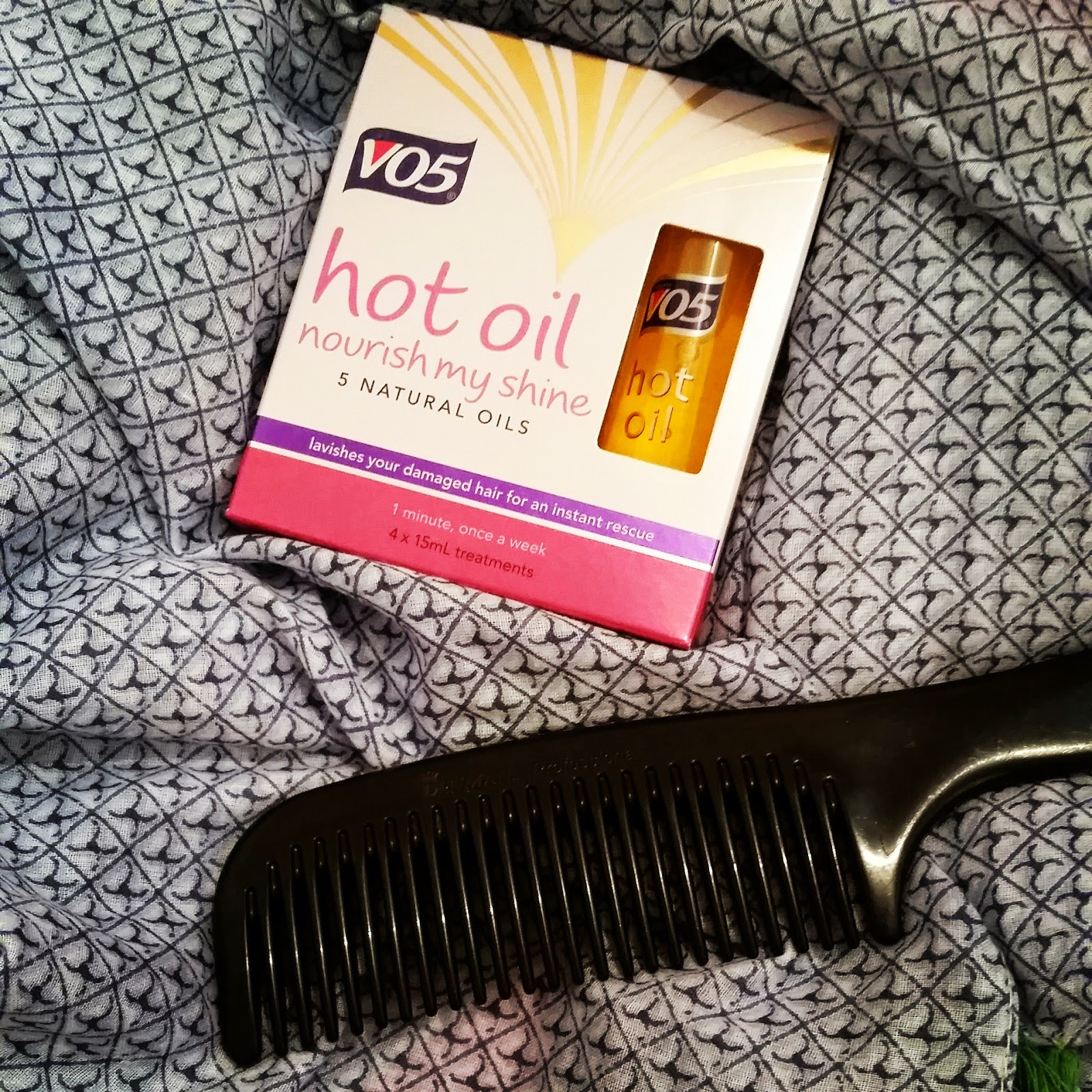 vo5 hot oil hair treatment instructions