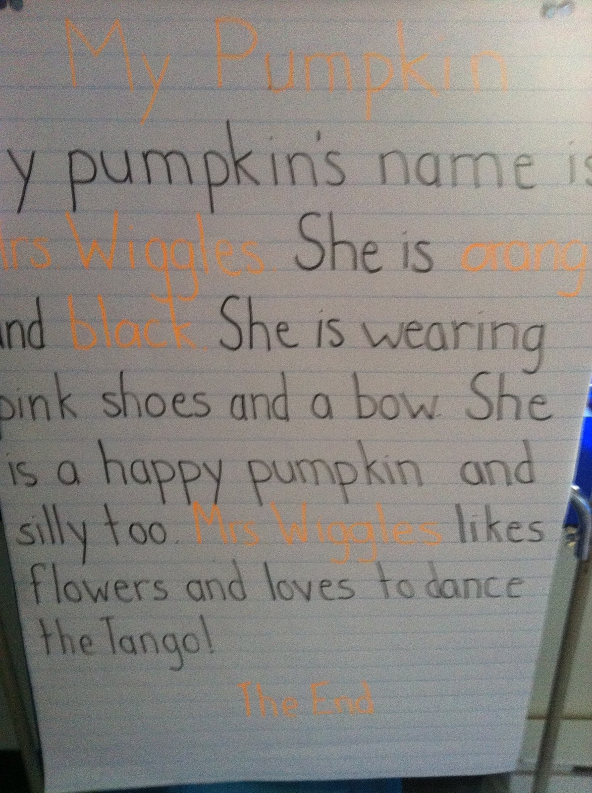pumpkin people today in second grade pumpkin people