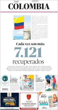 31/05/2020 COLOMBIA  UNA  PRIMERA PÁGINA DE LA PRENSA