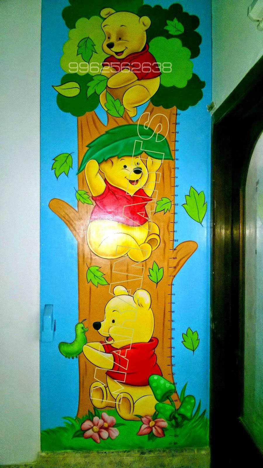 kids cartoon wall art for play schools in chennai ,kidswallpainting ...