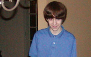 Adam Lanza in blue shirt