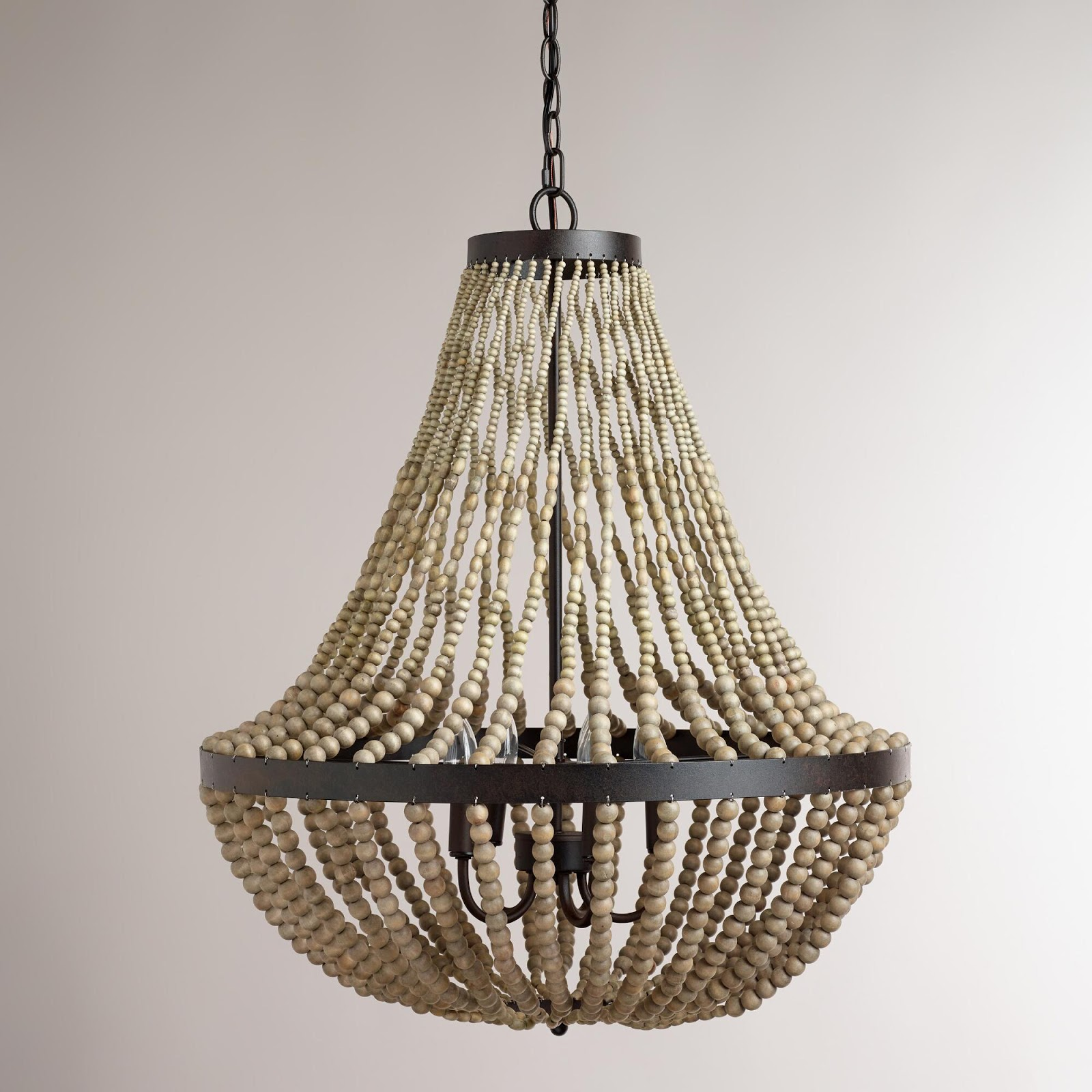 Fresh large beaded chandelier World Market