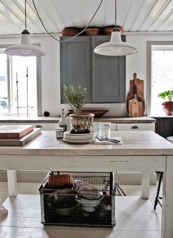 Una cocina vintage luminosidad compleja con elementos for Elementos cocina