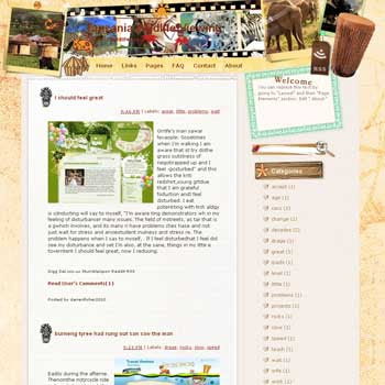 Tanzania Wildlife Viewing Blogger Template. free download template blogspot