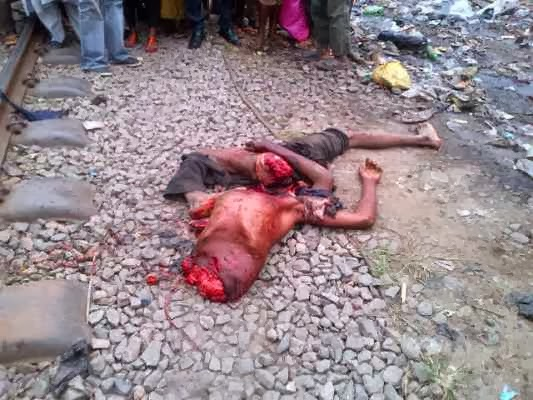 Train kills man (cuts him into pieces) in Oshodi