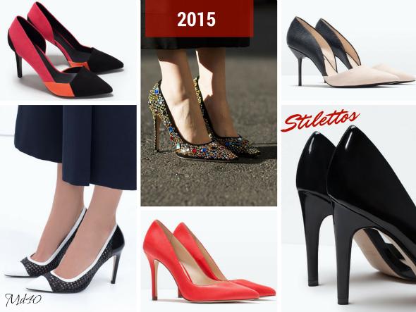 zapatos y sandalias primavera  verano 2015 tendencias stilettos