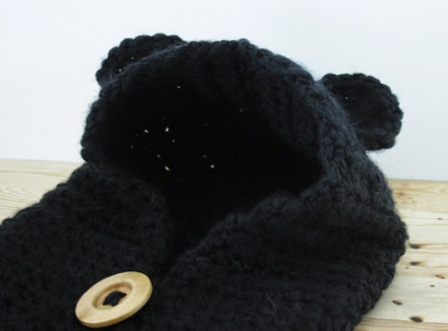 Crochet bear cowl
