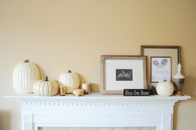 inexpensive fall mantel ideas