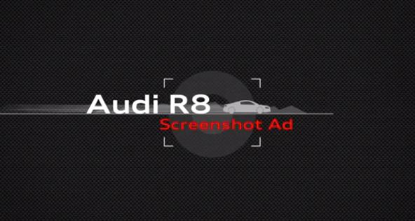 sreenshot ad audi r8, la aplicación de audi para promocionar el nuevo modelo del R8 en Tigremata