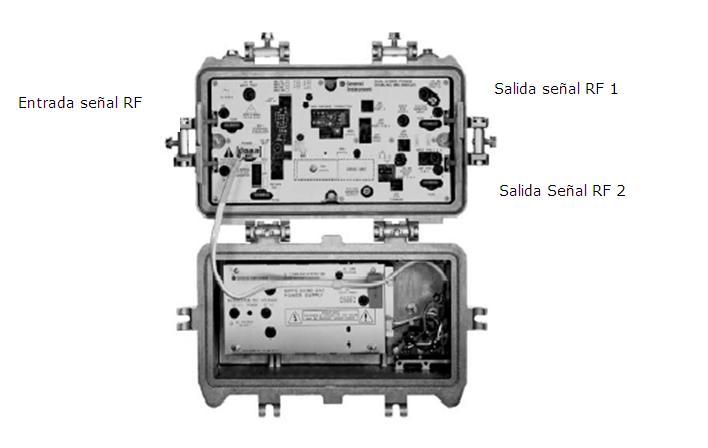Equipos y medios de transmision hfc equipos y medios de for Amplificador tv cable coaxial