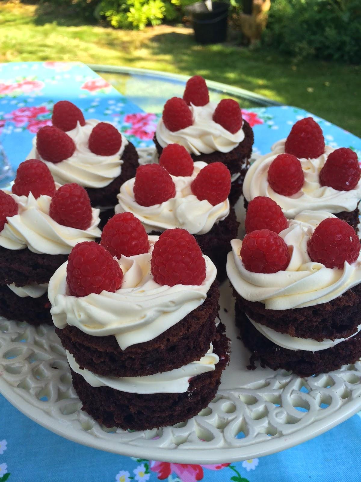 Emma Courtney Raspberry Chocolate Cakes