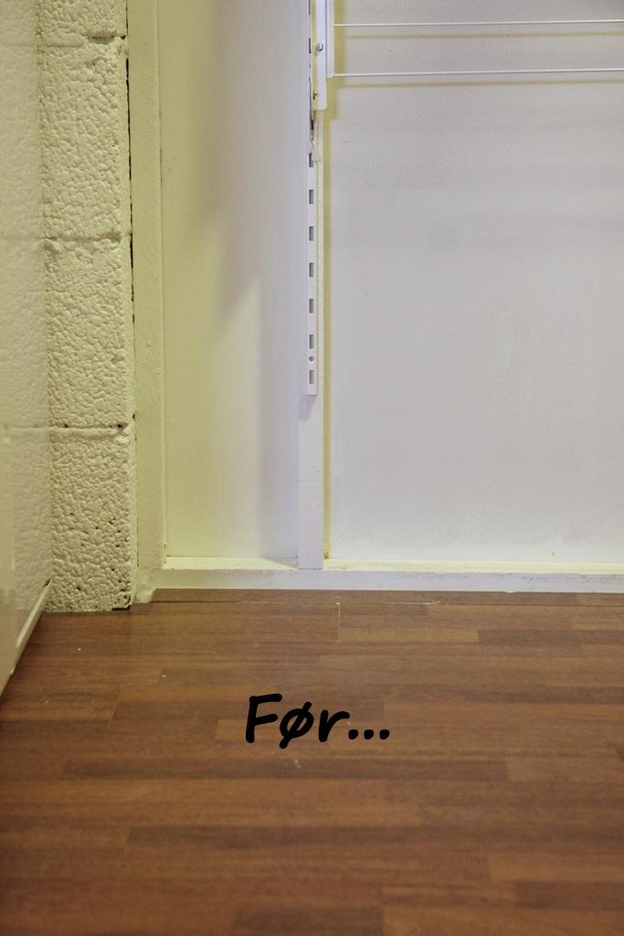 HJERTEBANK: Fortsettelse prosjekt  å male laminat..