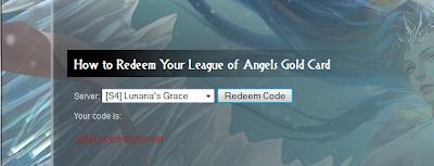Cara Mendapatkan Code Redeemtion Leangue Of Angel