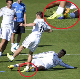 gambar ronaldo takel tackle bale di real madrid