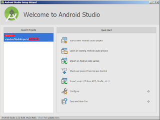 langkah pertama membuat aplikasi dengan android studio