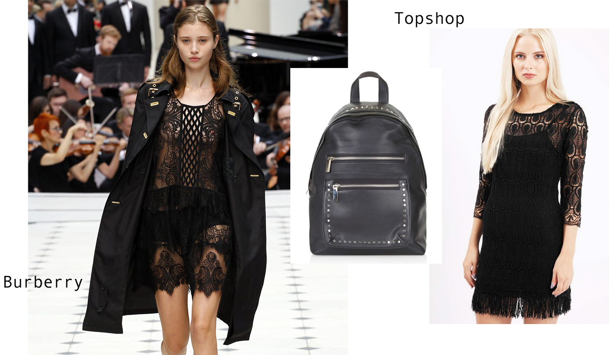 Burberry London Fashion Week Trend at Topshop