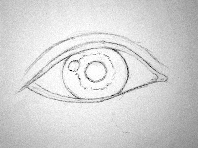 How to draw an eye, how to shade an eye, sketching eye