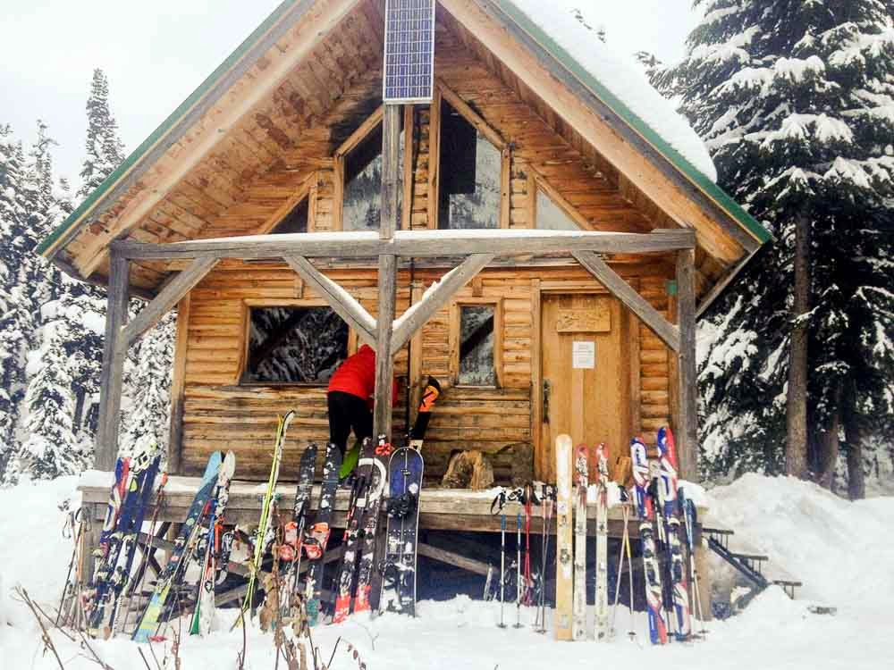 Hut with Skis