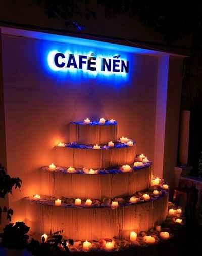 Đêm huyền diệu cùng Cafe Nến, café nguyen chat, quan café ngon, café sai gon, sai gon am thuc, café bazar, café phin, café may lanh, ca phe may lanh, ca phe san vuon, ca phe rang xay, diem an uong ngon