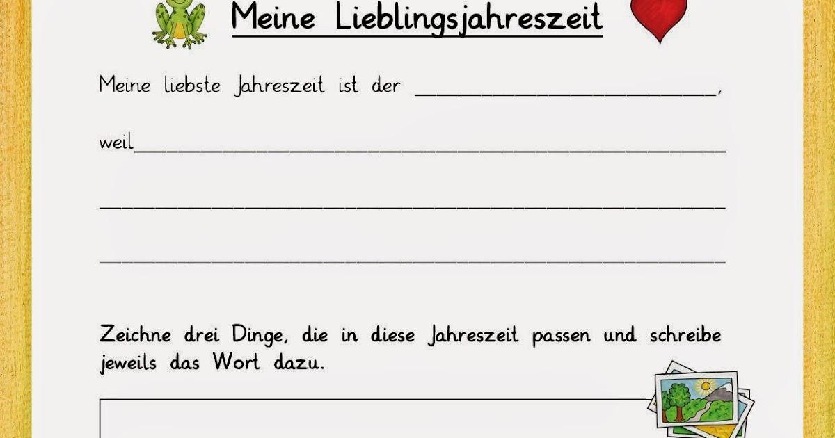 Reif für die Ferien: Meine Lieblingsjahreszeit - Arbeitsblatt und ...