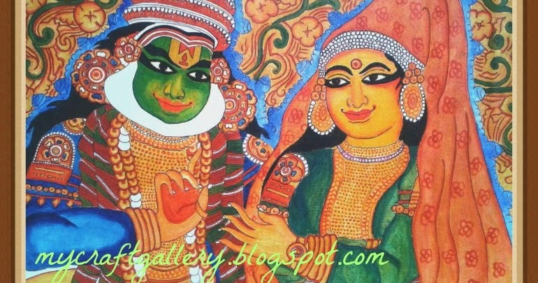 My craft gallery kerala mural painting kathakali for Buy kerala mural paintings online
