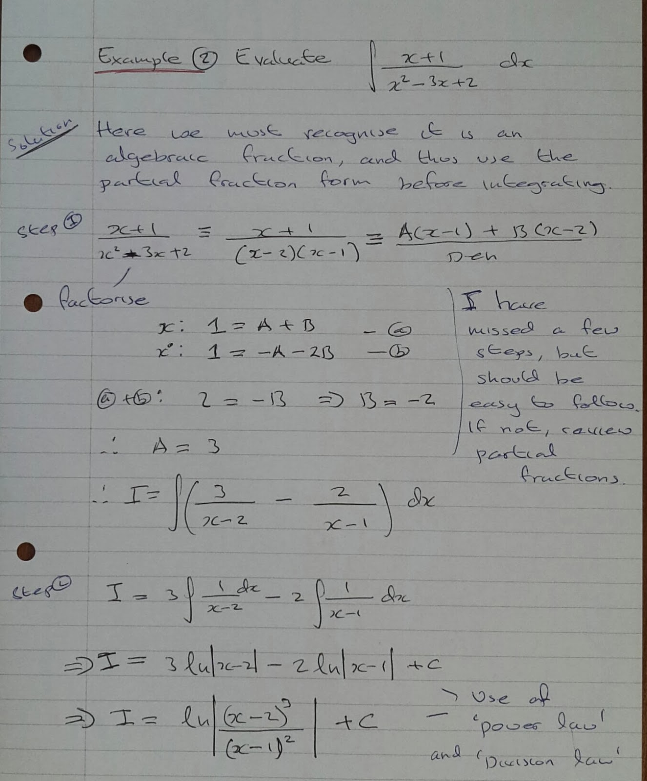 Partial Fraction Exercises With Answers partial fractions – Partial Fractions Worksheet