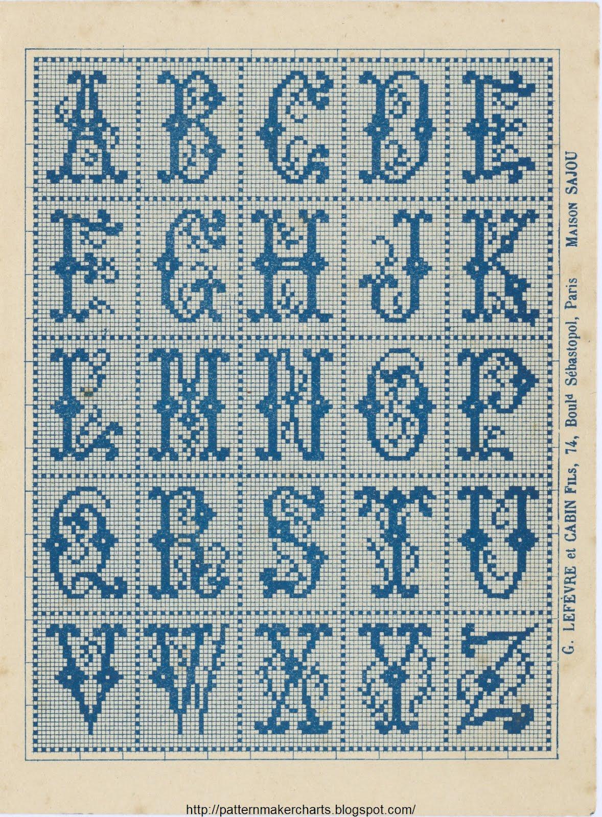 Вышивка латинских букв