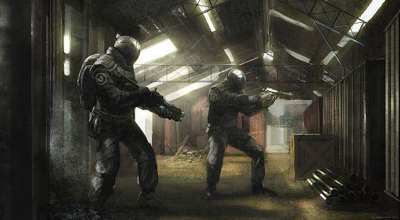Geoffroy Thoorens djahalland deviantart ilustrações arte conceitual guerras futuristas batalhas tecnologia Soldados