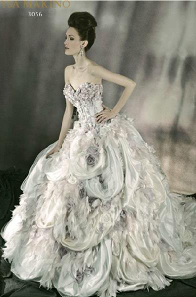 here is another incredible over the top wedding gown from one of our new designers ysa makino