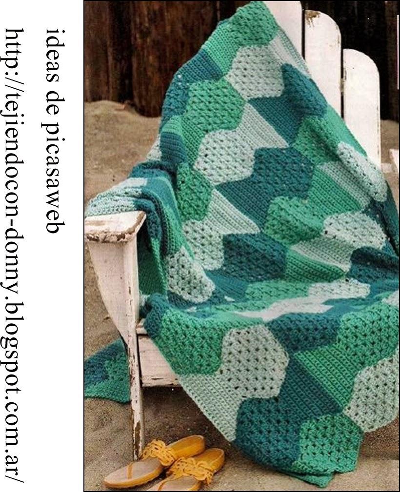 Crochet fabric crochet ganchillo patrones graficos - Mantas lana ganchillo ...