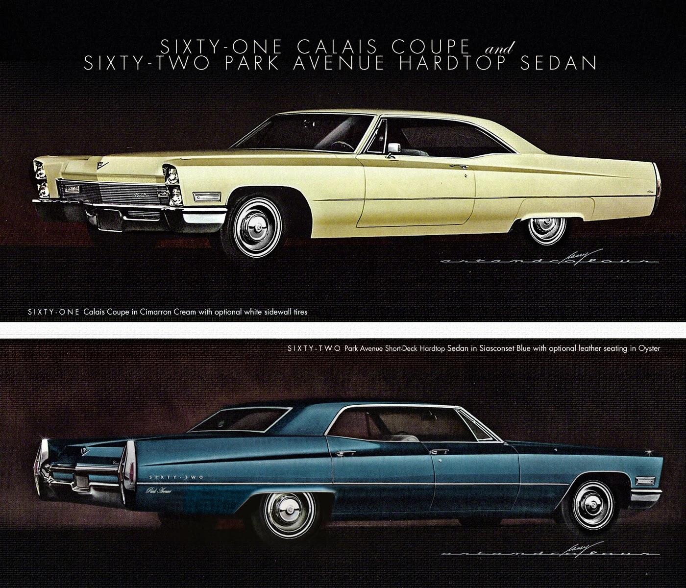 Casey/artandcolour/cars: 1968 Cadillac Lineup Grows By Ten