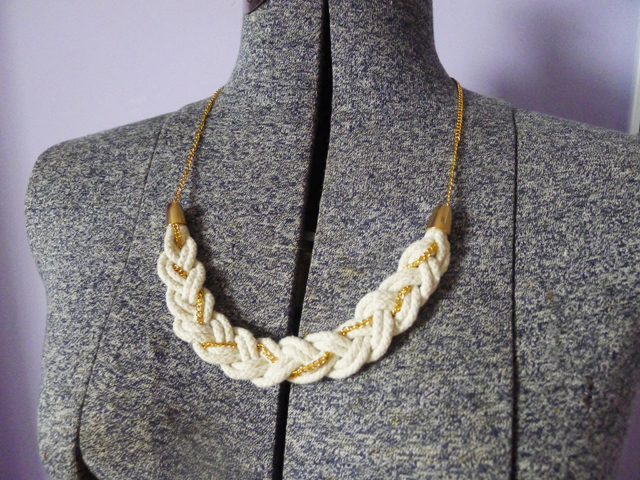 Thanks I Made It TIMI Elsewhere Rope And Chain Braided - Diy braided necklace