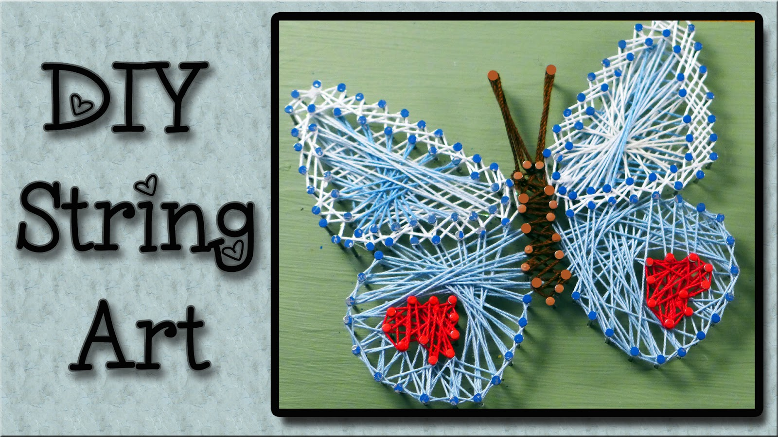 This Is A Step By Tutorial On How To Do String Art Craft That Easy And Fun You Can Be So Creative With It The Ideas Are