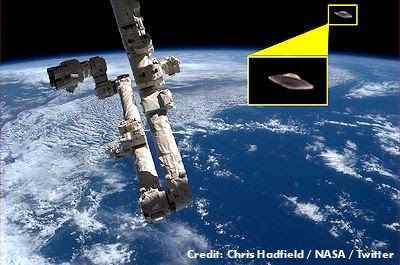 NASA tweets UFO photos from ISS on April Fools' Day 4-1-13