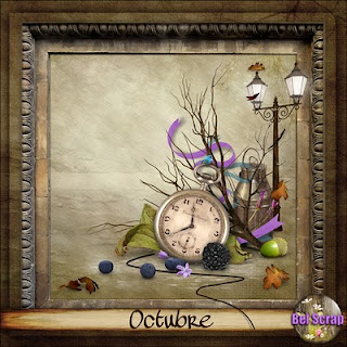 "Free scrapbook kit ""October"" from belscrap"