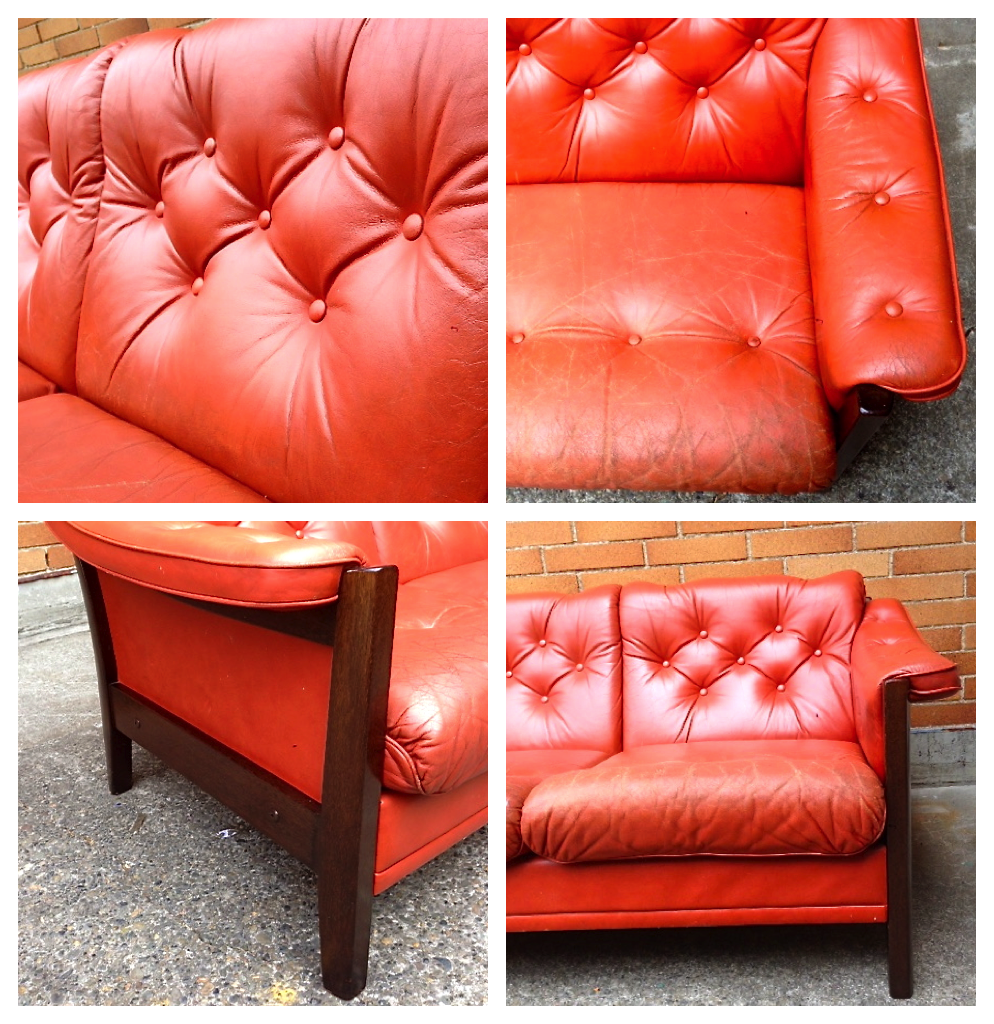 burnt orange leather chair the