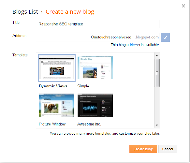 image of creating a new blog in the blog-spot blog